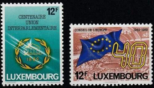 Poštovní známky Lucembursko 1989 Evropská výroèí Mi# 1221-22