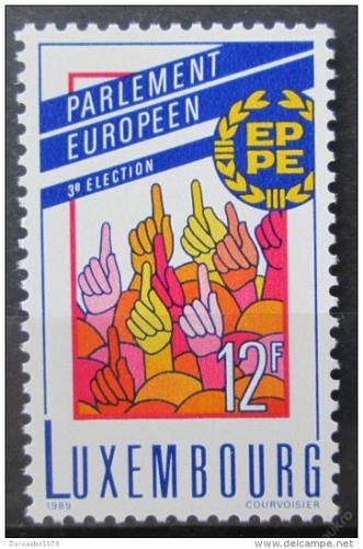 Poštovní známka Lucembursko 1989 Tøetí volby do Evropského parlamentu Mi# 1223