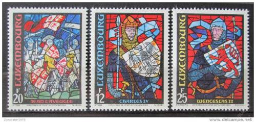 Poštovní známky Lucembursko 1989 Vitráže, lucemburská historie Mi# 1227-29