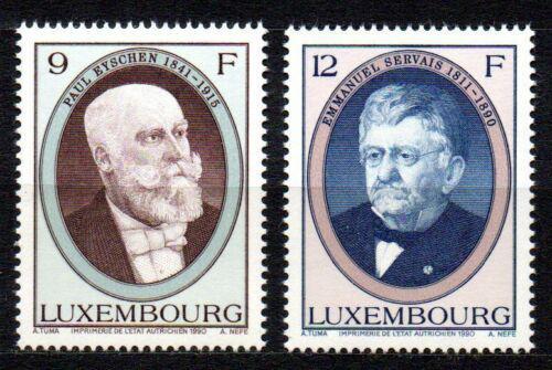 Poštovní známky Lucembursko 1990 Politici Mi# 1245-46