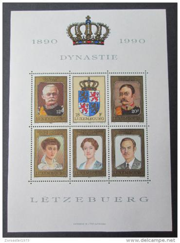 Poštovní známky Lucembursko 1990 Velkovévodové Mi# Block 16 Kat 10€