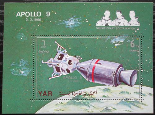 Poštovní známka Jemen 1969 Prùzkum Mìsíce, Apollo 9 Mi# Block 102 Kat 12€