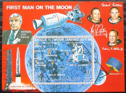 Poštovní známka Jemen 1969 Prùzkum Mìsíce, Apollo 11 Mi# Block 109 Kat 15€