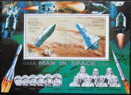 Poštovní známka Jemen 1969 Èlovìk ve vesmíru Mi# Block 104 Kat  15€