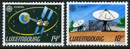Poštovní známky Lucembursko 1991 Evropa CEPT, prùzkum vesmíru Mi# 1271-72