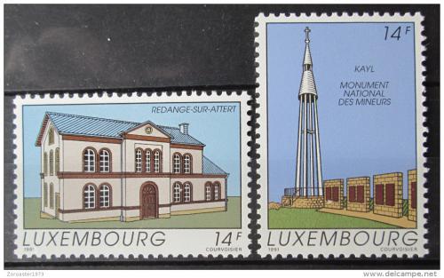 Poštovní známky Lucembursko 1991 Pamìtihodnosti Mi# 1273-74