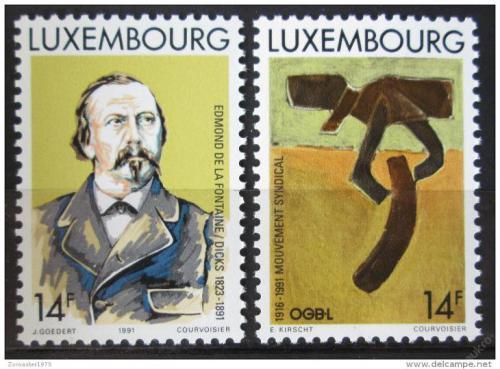 Poštovní známky Lucembursko 1991 Výroèí Mi# 1275-76