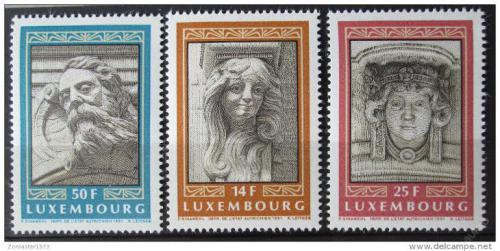 Poštovní známky Lucembursko 1991 Architektura, maskarony Mi# 1277-79