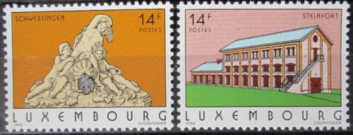 Poštovní známky Lucembursko 1993 Pamìtihodnosti Mi# 1316-17