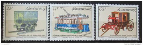 Poštovní známky Lucembursko 1993 Dopravní muzeum Mi# 1324-26