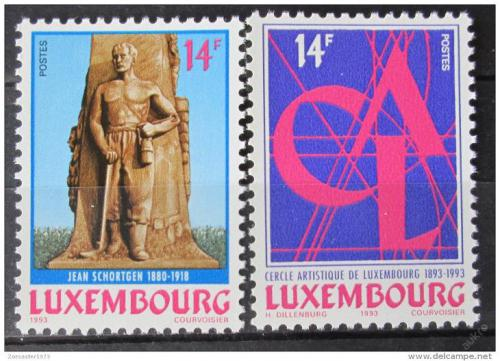 Poštovní známky Lucembursko 1993 Výroèí Mi# 1327-28