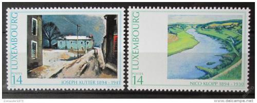 Poštovní známky Lucembursko 1994 Umìní Mi# 1338-39