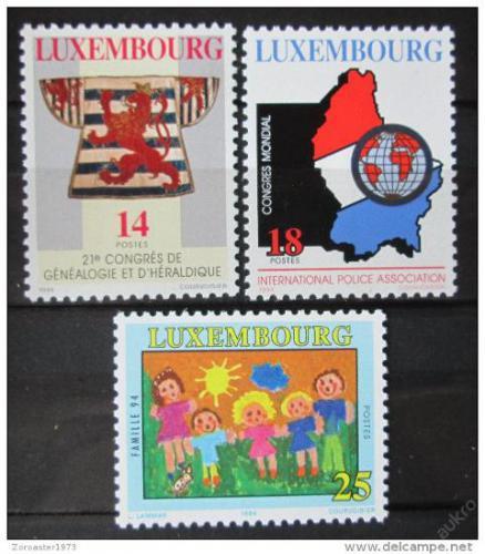 Poštovní známky Lucembursko 1994 Výroèí a události Mi# 1342-44