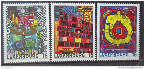 Poštovní známky Lucembursko 1995 Umìní, Friedensreich Hundertwasser Mi# 1360-62