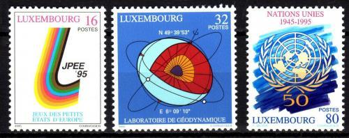 Poštovní známky Lucembursko 1995 Výroèí a události Mi# 1370-72 Kat 6€