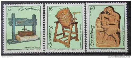 Poštovní známky Lucembursko 1995 Muzejní exponáty Mi# 1377-79 Kat 6€