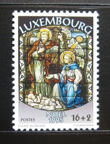 Poštovní známka Lucembursko 1995 Vánoce, narození Krista Mi# 1384