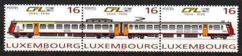 Poštovní známky Lucembursko 1996 Lokomotivy Mi# 1386-88