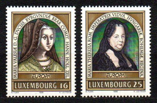 Poštovní známky Lucembursko 1996 Evropa CEPT, slavné ženy Mi# 1390-91