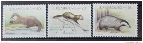 Poštovní známky Lucembursko 1996 Kuny Mi# 1400-02 Kat 6.50€