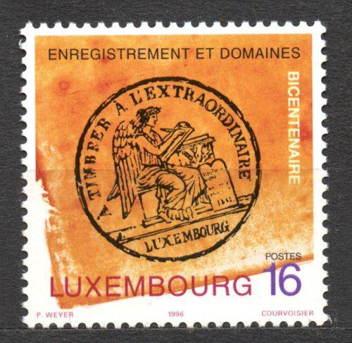 Poštovní známka Lucembursko 1996 Fiskální razítko Mi# 1403