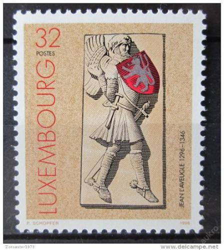 Poštovní známka Lucembursko 1996 Jan Lucemburský Mi# 1409
