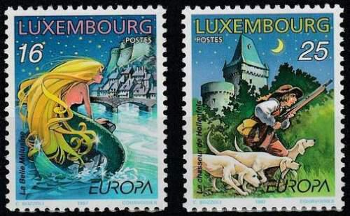 Poštovní známky Lucembursko 1997 Evropa CEPT, legendy Mi# 1418-19