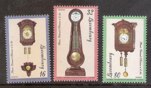 Poštovní známky Lucembursko 1997 Hodiny Mi# 1426-28 Kat 6€