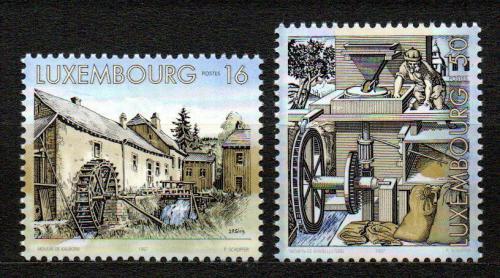 Poštovní známky Lucembursko 1997 Vodní mlýny Mi# 1429-30