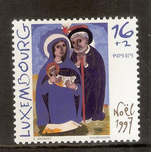Poštovní známka Lucembursko 1997 Vánoce, umìní Mi# 1435 Kat 3.50€