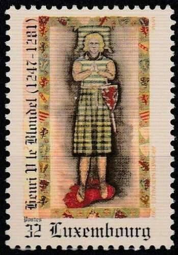 Poštovní známka Lucembursko 1997 Jindøich V. Sálský Mi# 1436