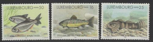 Poštovní známky Lucembursko 1998 Sladkovodní ryby Mi# 1437-39 Kat 6€