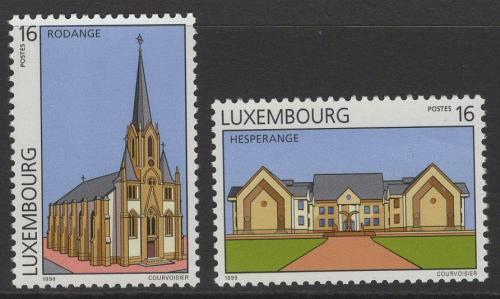 Poštovní známky Lucembursko 1998 Pamìtihodnosti Mi# 1440-41