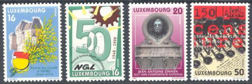 Poštovní známky Lucembursko 1998 Výroèí a události Mi# 1442-45 Kat 6€