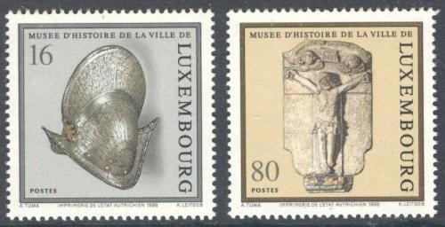 Poštovní známky Lucembursko 1998 Muzejní exponáty Mi# 1454-55 Kat 5.80€