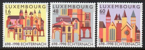 Poštovní známky Lucembursko 1998 Opatství Echternach Mi# 1456-58 Kat 6.80€