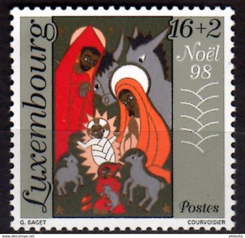 Poštovní známka Lucembursko 1998 Vánoce, narození Krista Mi# 1464 Kat 3.50€