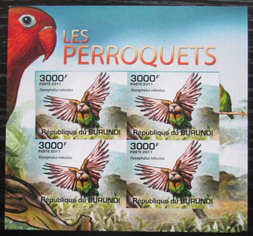 Poštovní známky Burundi 2011 Papoušek kapský neperf. Mi# 1980 B Bogen