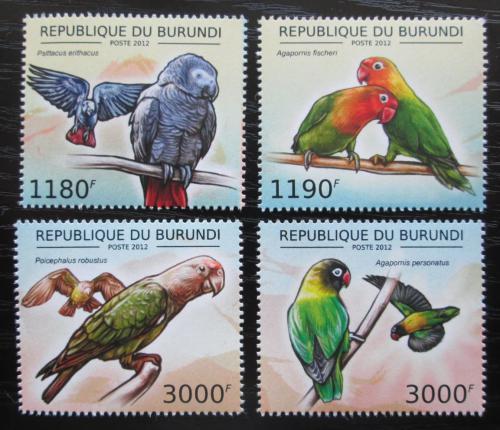 Poštovní známky Burundi 2013 Papoušci Mi# 2813-16 Kat 10€