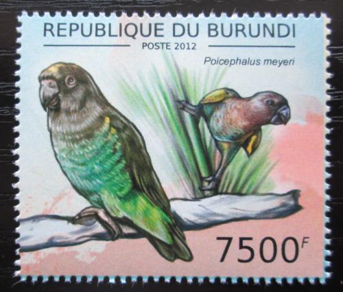 Poštovní známka Burundi 2013 Papoušek žlutotemenný Mi# 2817