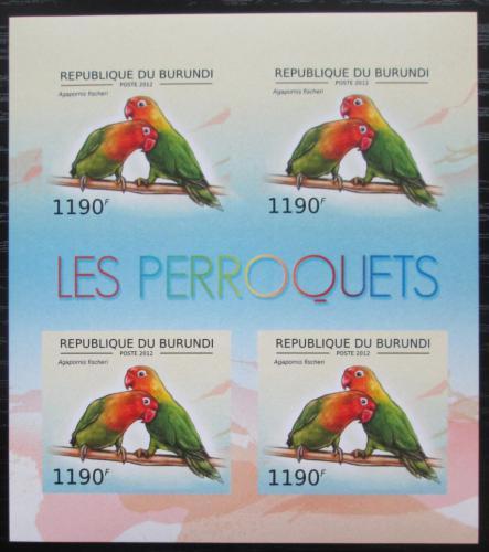 Poštovní známky Burundi 2013 Papoušík Fischerùv neperf. Mi# 2814 B Bogen