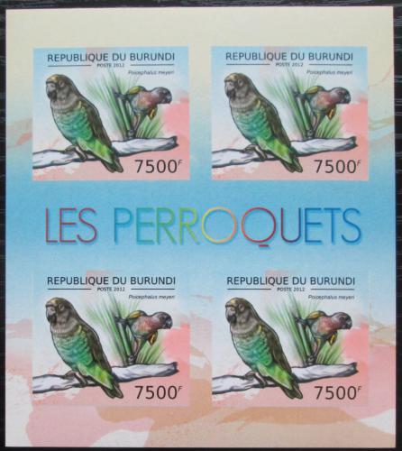 Poštovní známky Burundi 2013 Papoušek žlutotemenný neperf. Mi# 2817 B Bogen