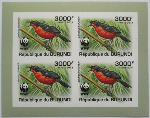 Poštovní známky Burundi 2011 �uhýkovec papyrusový, WWF neperf. Mi# 2128 a Bogen