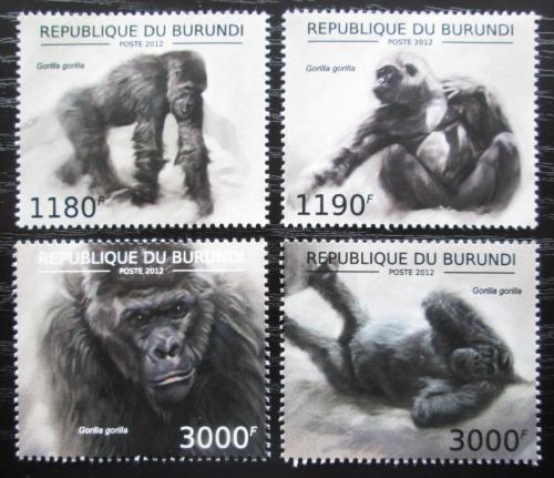 Poštovní známky Burundi 2012 Gorila západní Mi# 2848-51 Kat 10€
