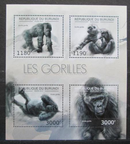Poštovní známky Burundi 2012 Gorila západní Mi# 2848-51 Bogen Kat 10€