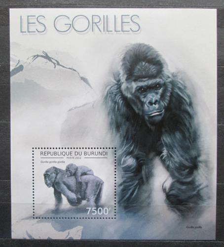 Poštovní známka Burundi 2012 Gorila západní Mi# Block 294 Kat 9€