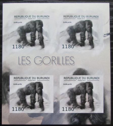 Poštovní známky Burundi 2012 Gorila západní neperf. Mi# 2848 B Bogen