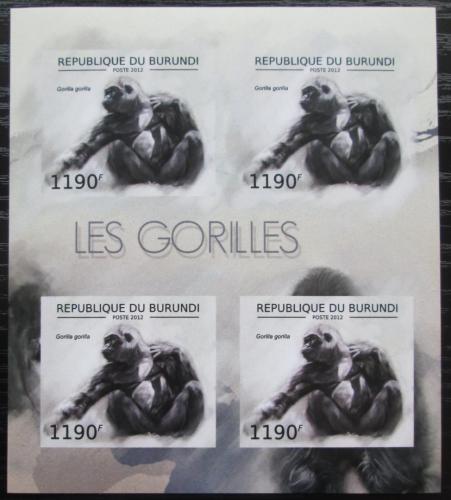Poštovní známky Burundi 2012 Gorila západní neperf. Mi# 2849 B Bogen