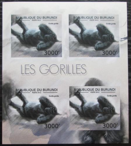 Poštovní známky Burundi 2012 Gorila západní neperf. Mi# 2850 B Bogen
