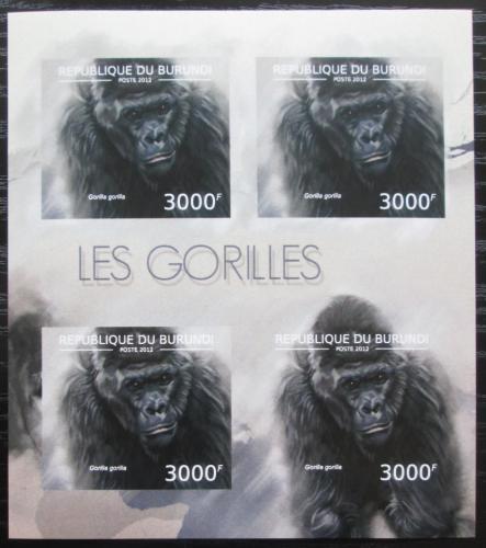 Poštovní známky Burundi 2012 Gorila západní neperf. Mi# 2851 B Bogen